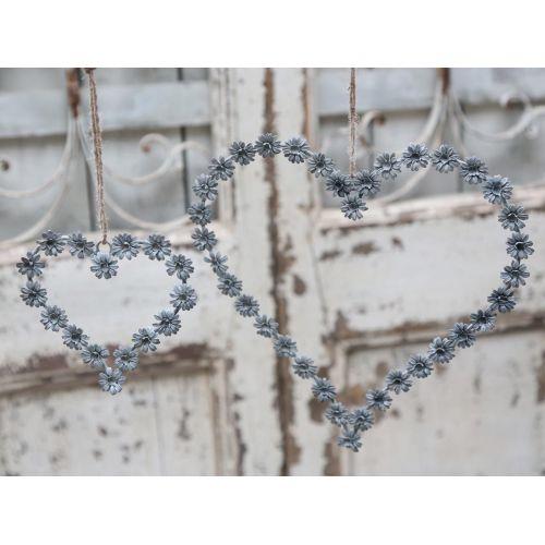 Chic Antique / Dekoratívne srdce Flowers