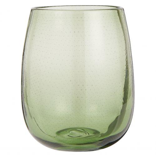 IB LAURSEN / Sklenená váza Bubbles Olive 17,5 cm