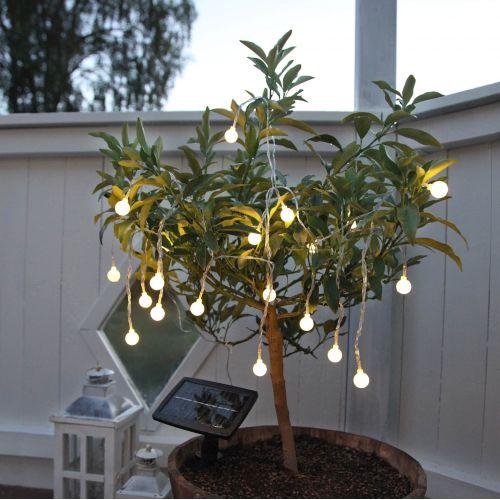 STAR TRADING / Svetelná LED reťaz na solárne napájanie White Ball