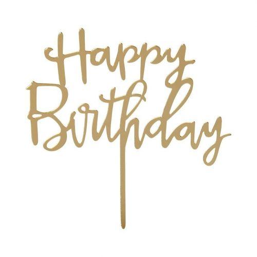 Talking Tables / Zapichovací nápis na tortu Happy Birthday Topper