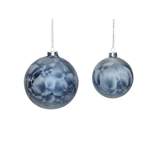 Hübsch / Vianočná ozdoba Blue frost