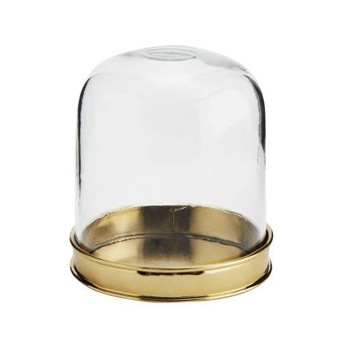 MADAM STOLTZ / Sklenený dekoratívny poklop s táckou Glass Cover