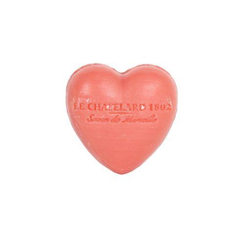 LE CHATELARD / Francouzské mýdlo Heart - Jasmín a růže 25gr