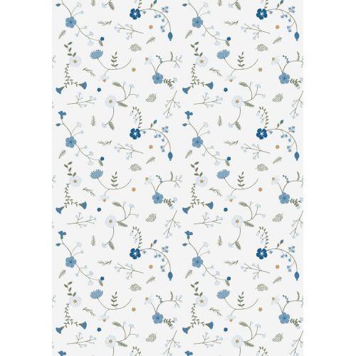 IB LAURSEN / Darčekový baliaci papier Blue Wild Flower 10 m