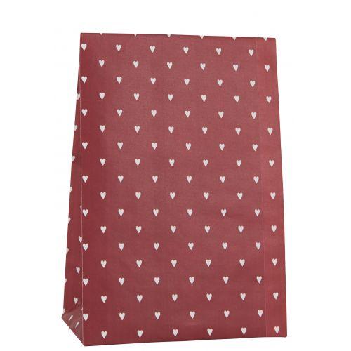 IB LAURSEN / Papierový sáčok Hearts Red 28,5cm