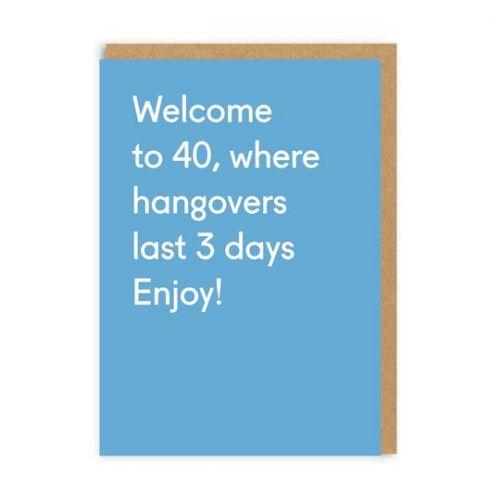 Ohh Deer / Prianie s obálkou Welcome to 40
