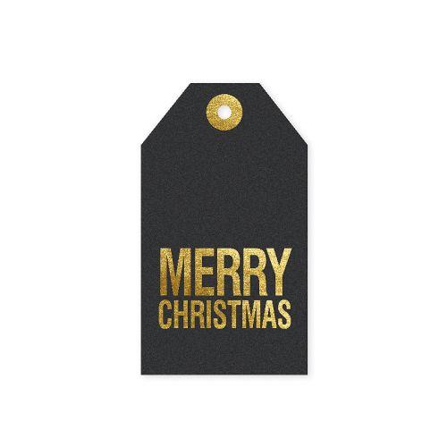 TAFELGUT / Vianočný štítok Merry Christmas 6x10,5 cm