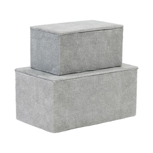 House Doctor / Úložný box Corduroy Grey