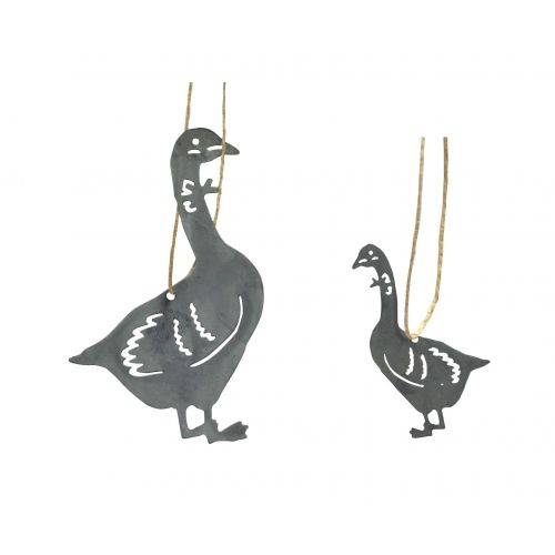 Krasilnikoff / Zinková vianočná ozdoba Goose