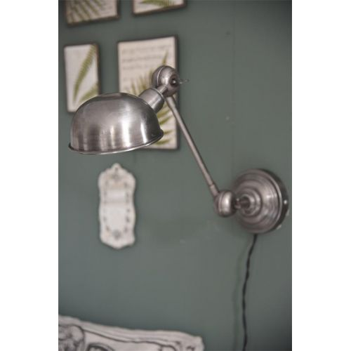 Jeanne d'Arc Living / Nástenná lampa Antique Silver Articulated
