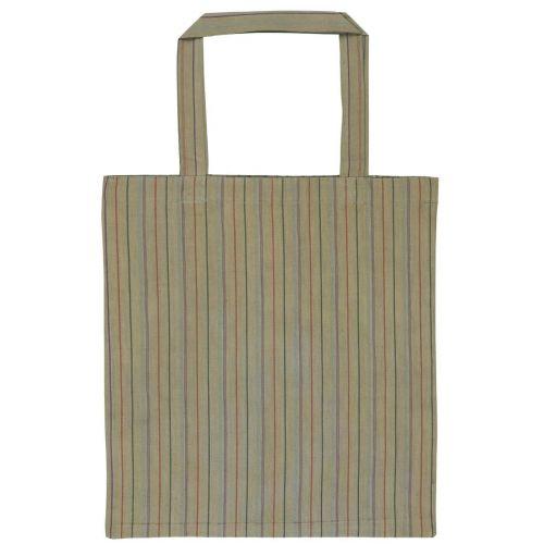 IB LAURSEN / Bavlnená taška Autumn Green Stripes
