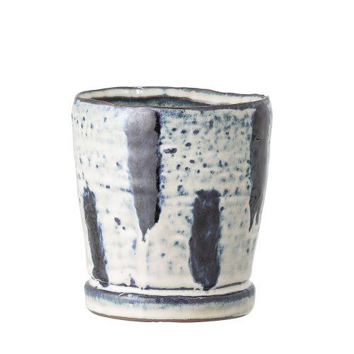 Bloomingville / Keramický obal na kvetináč Blue Stripe – menší