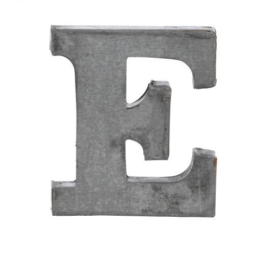 MADAM STOLTZ / Plechové písmeno E, 6 cm