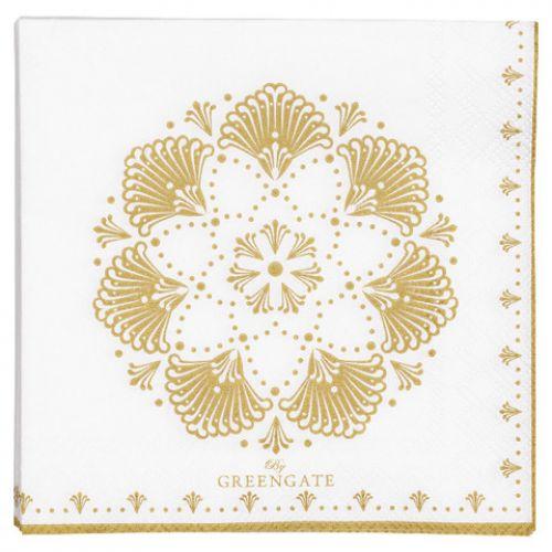 GREEN GATE / Papierové servítky Elvina Gold