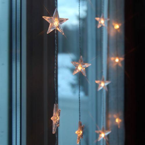 STAR TRADING / Svetelná reťaz s hviezdičkami Star Curtain 90 × 200 cm