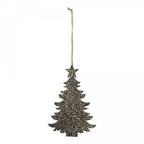 Bloomingville / Závesná dekorácia Tree Paper Gold/Black