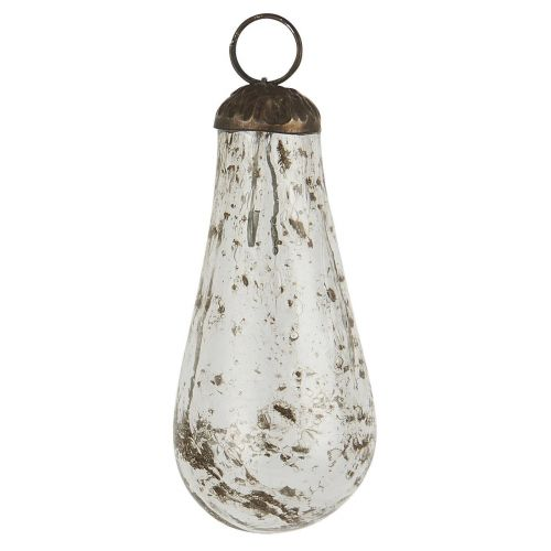 IB LAURSEN / Vianočná banka Drop Pebbled Glass Clear
