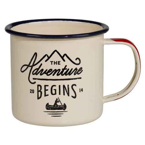 GENTLEMEN'S HARDWARE / Smaltovaný cestovný hrnček Adventure Cream