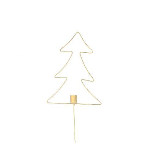 Krasilnikoff / Vianočný zapichovací svietnik Tree Brass