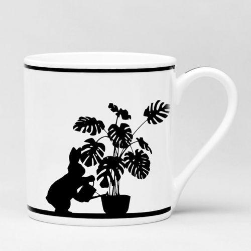 HAM / Porcelánový hrnček Watering Rabbit
