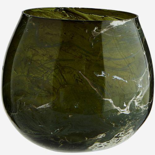 MADAM STOLTZ / Votívny svietnik Green Marble Finish