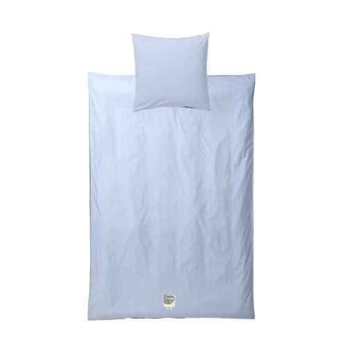 ferm LIVING / Bavlnené obliečky Hush Light Blue 140x200 cm