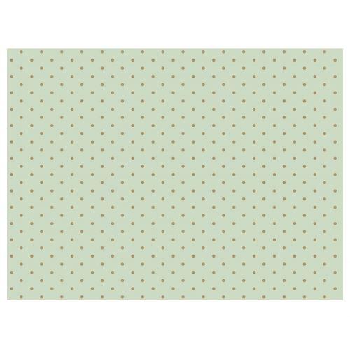Maileg / Hedvábný papír Mint/gold dots - 10 listů