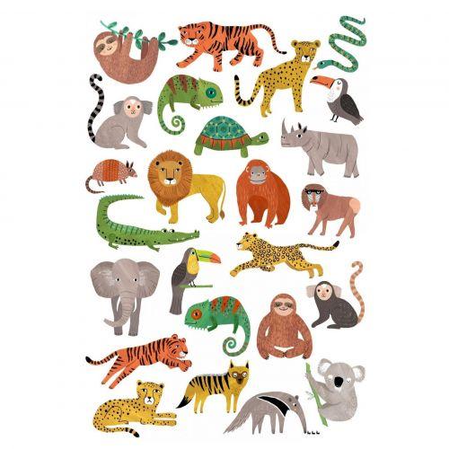 PETIT MONKEY / Detské dočasné tetovanie Jungle animals