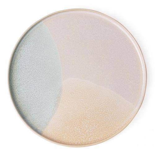 HK living / Keramický tanier Mint/Nude