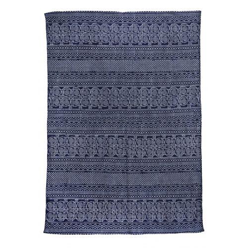 MADAM STOLTZ / Bavlnený koberec s potlačou Blue 120x180 cm