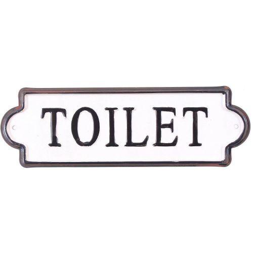 La finesse / Kovová ceduľka Toilet