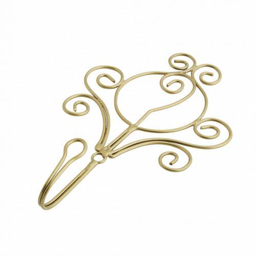 MADAM STOLTZ / Kovový háčik Iron Antique Brass Ornament