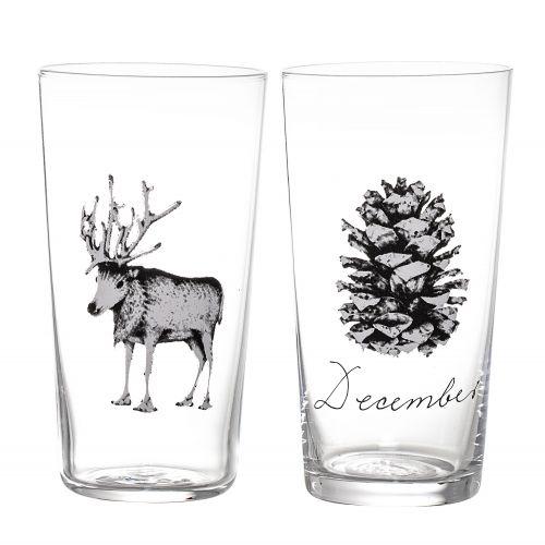 Bloomingville / Sklenený pohár December