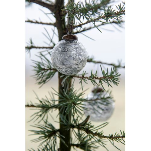 IB LAURSEN / Vianočná mini ozdoba Silver pattern