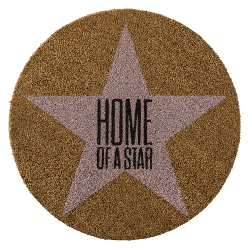 Bloomingville / Okrúhla rohožka Home of a star