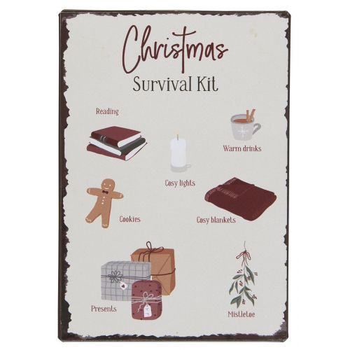 IB LAURSEN / Plechová ceduľa Christmas Survival Kit
