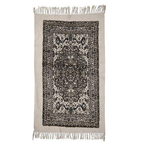 Bloomingville / Bavlnený koberec Cream&Black 150x90