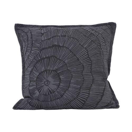 House Doctor / Ľanová obliečka na vankúš Paper Dark grey 50x50 cm