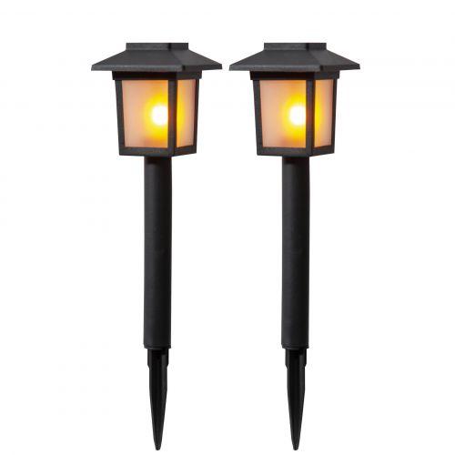 STAR TRADING / Záhradné svetlo na solárne napájanie Bollard - set 2ks