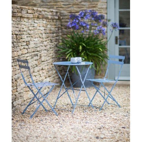 Garden Trading / Záhradný set stolíka so stoličkami Dorset blue