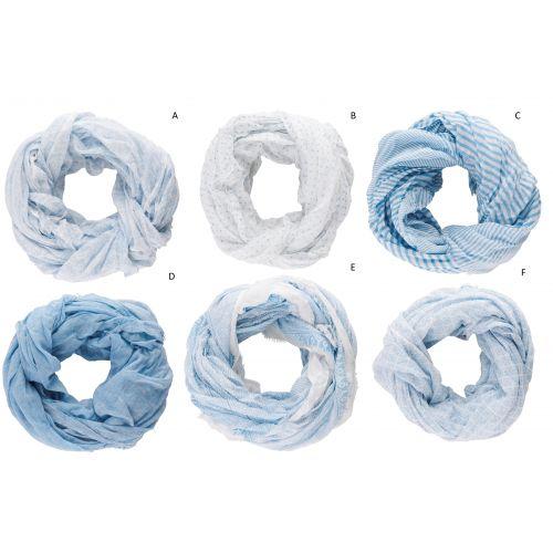 IB LAURSEN / Bavlnená šatka Blue Pattern