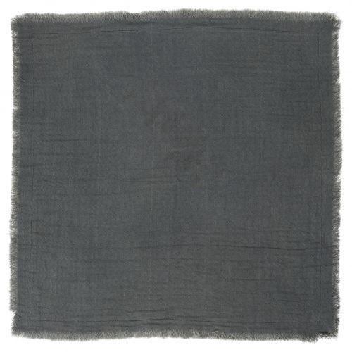 IB LAURSEN / Bavlnený obrúsok Double Weaving Dark Grey
