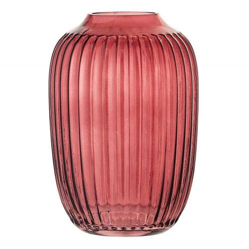 Bloomingville / Sklenená váza Red