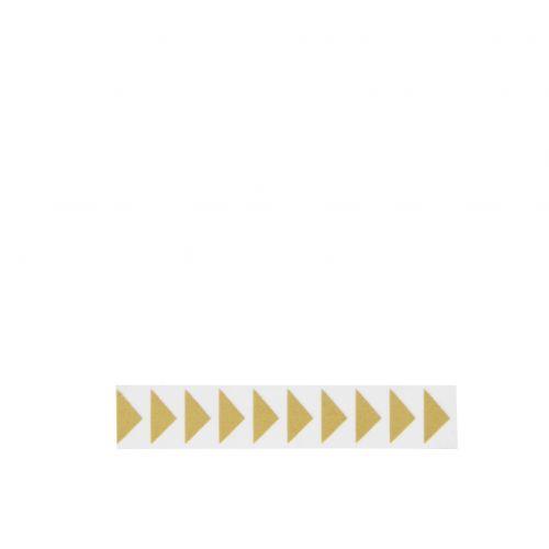 MADAM STOLTZ / Designová samolepící páska Arrows gold/white