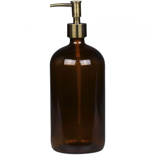 Chic Antique / Sklenený dávkovač na mydlo Mocca 1 l