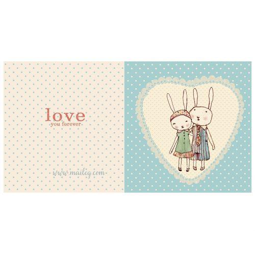 Maileg / Otváracie prianie - zamilovaní zajačikovia