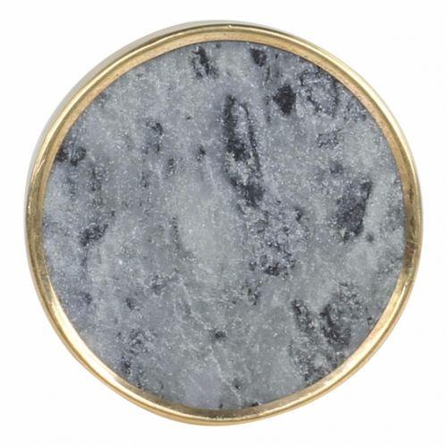 Chic Antique / Úchytka Grey Marble Brass Edge