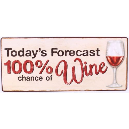La finesse / Plechová ceduľa 100% chance of wine