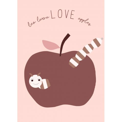 OYOY / Plagát do detskej izbičky Love Apples