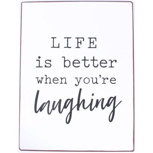 La finesse / Plechová ceduľa Life is better when